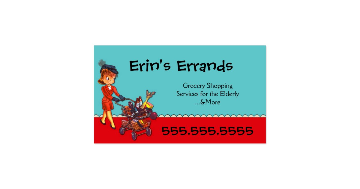 errand services business card