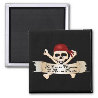 Errar es humano, a Arr está el pirata Iman De Nevera