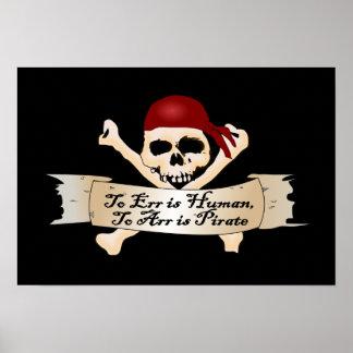 Errar es humano, a Arr está el pirata Poster