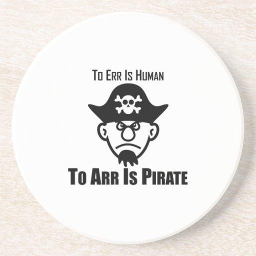 Errar es humano a Arr está el pirata Posavasos Manualidades