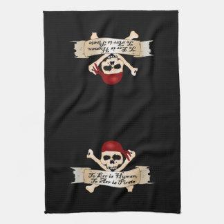 Errar es humano, a Arr está el pirata Toallas