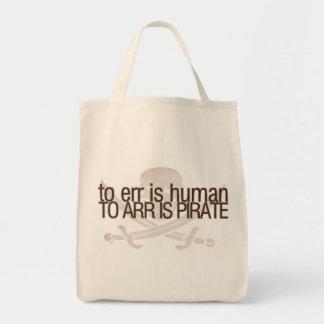 Errar es humano, al arr está el pirata bolsas de mano