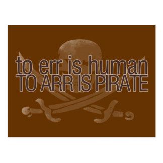 Errar es humano, al arr está el pirata postal