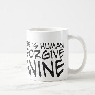 Errar es humano taza de café