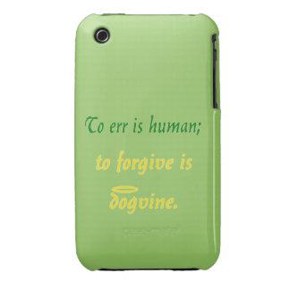 Errar es humano (versión del perro) funda para iPhone 3 de Case-Mate