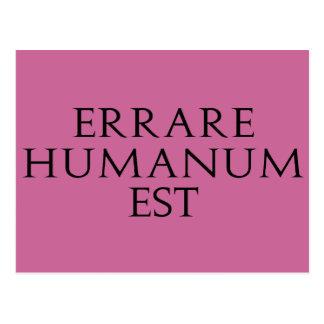 Errare Humanum Est Postcard