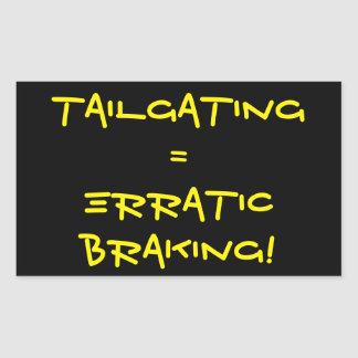 Erratic Braking Rectangular Sticker
