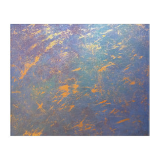 Erratic Muted Rainbow Blue Green Red Purple Pastel Acrylic Print