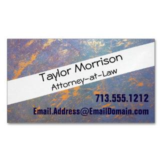 Erratic Office | Monogram Watercolor Pastel Gold | Business Card Magnet