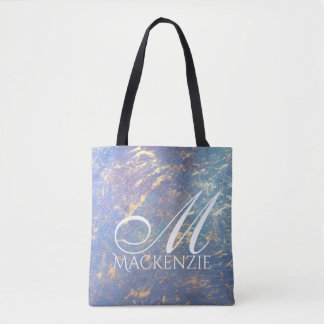 Erratic Style | Monogram Watercolor Pastel Gold | Tote Bag