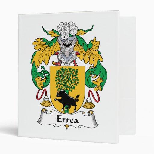 Errea Family Crest Vinyl Binders