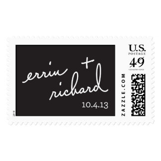 Errin and Richard save the date stamp