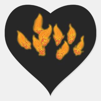 Erring lights want o the wisps heart sticker