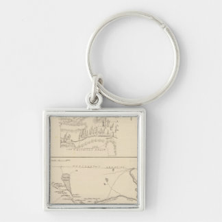 Errol, Coos Co Silver-Colored Square Keychain