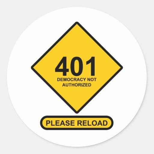 Error 401: Democracia no autorizada Etiquetas