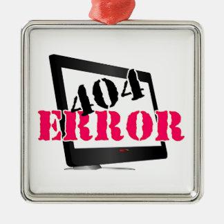 Error 404 adorno navideño cuadrado de metal