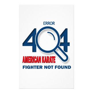 Error 404 American Karate fighter not found Stationery