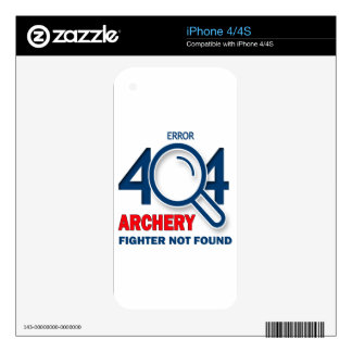 Error 404 Archery fighter not found Decals For iPhone 4S