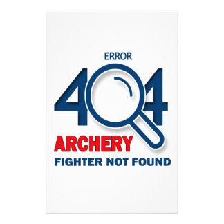 Error 404 Archery fighter not found Stationery