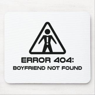 Error 404 Boyfriend Not Found Mousepads