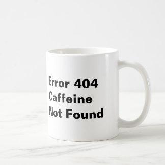 Error 404 Caffeine Not Found Mug