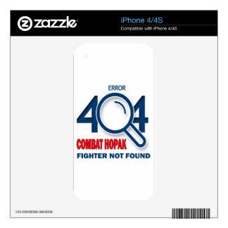 Error 404 Combat Hopak fighter not found iPhone 4 Skins