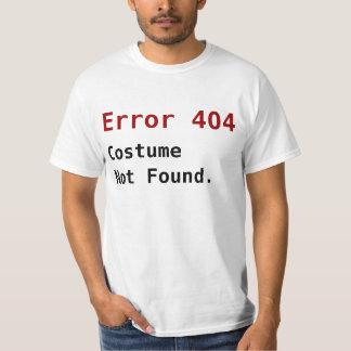 Error 404 Costume Not Found, Anti-Halloween Geek Shirt