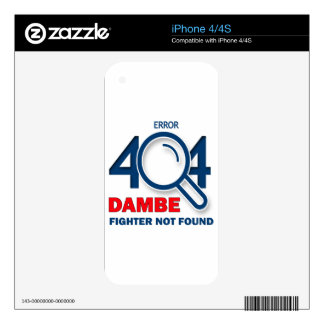 Error 404 Dambe fighter not found Decals For The iPhone 4S