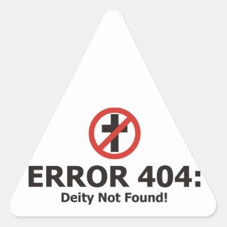 Error 404: Deidad no encontrada Pegatina Triangular