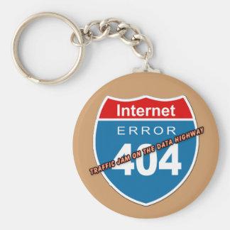 Error 404 del Internet Llavero Redondo Tipo Pin
