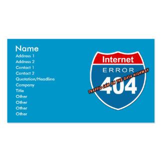 Error 404 del Internet Plantillas De Tarjetas Personales