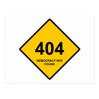 Error 404: Democracia no encontrada Tarjeta Postal
