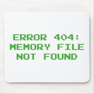 Error 404: Fichero de la memoria no encontrado Mouse Pad