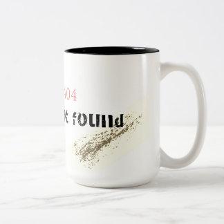 Error 404: Gender Not Found Two-Tone Coffee Mug