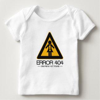 ERROR 404 – Girlfriend not found Infant T-shirt
