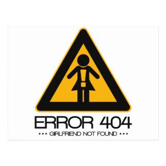 ERROR 404 – Girlfriend not found Postcard
