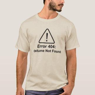 Error 404 Halloween Costume Not Found T-Shirt