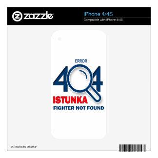 Error 404 Istunka fighter not found Decals For The iPhone 4