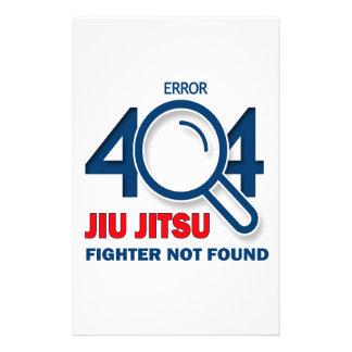 Error 404 Jiu-Jitsu fighter not found Stationery