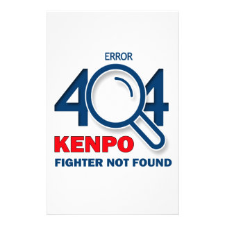 Error 404 Kenpo fighter not found Stationery