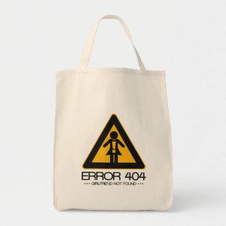 ERROR 404 - Novia no encontrada Bolsa Tela Para La Compra