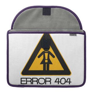 ERROR 404 - Novia no encontrada Funda Macbook Pro