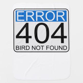Error 404 - Pájaro no encontrado Mantas De Bebé
