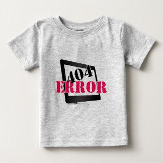 Error 404 playera de bebé