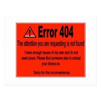 Error 404 postales