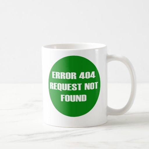Error-404-Request-Not-Found Classic White Coffee Mug