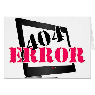 Error 404 tarjeta de felicitación