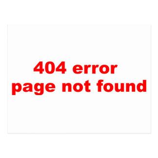 error 404 tarjetas postales