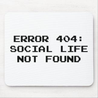 Error 404: Vida social no encontrada Alfombrilla De Ratones