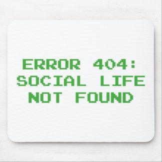 Error 404: Vida social no encontrada Tapete De Raton